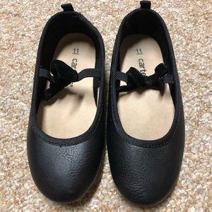 Carter's Black Ballerina Shoes, Size 11